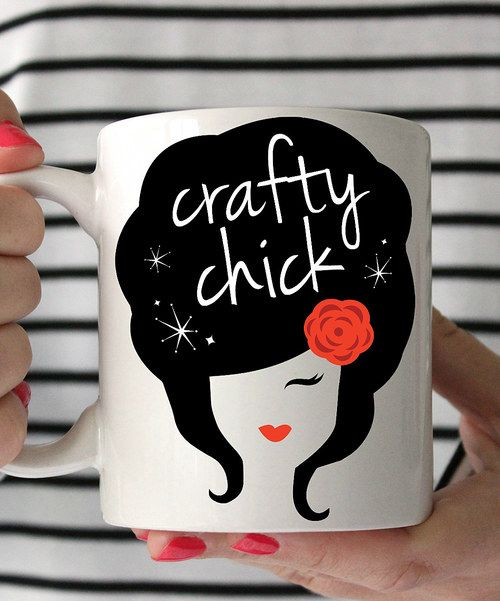 Look at this 'Crafty Chick' Mug on #zulily today!