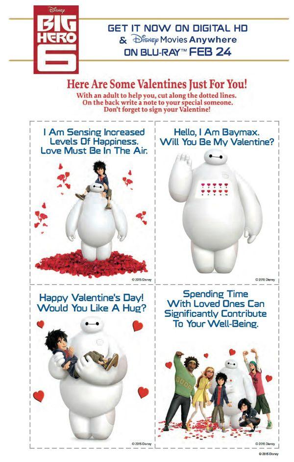 Free Disney Big Hero 6 Printable Valentines Day Cards – Disney Printable Valentine Cards