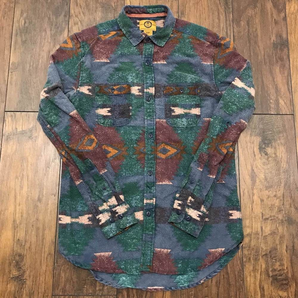 90s Western Long Sleeve Oxford Button Down Dress Shirt 90/'s Hypebeast Streetwear 1990s Vintage Oops All Over Print Print Button Up Shirt