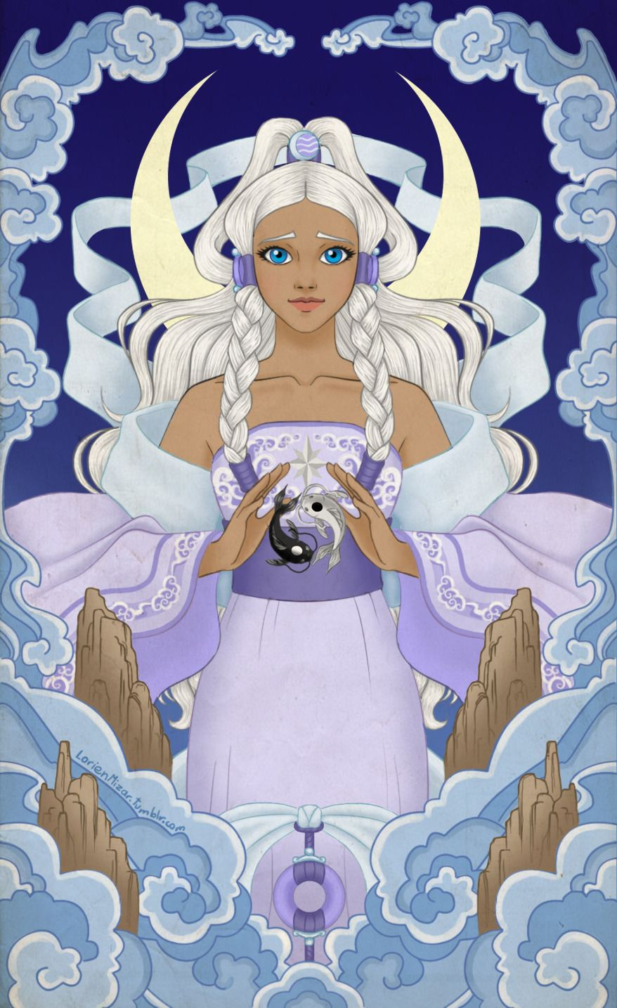 You Ll Often Find It Lorienmizar This Drawing Has A Funny Story When Princess Yue Avatar Airbender Avatar Fan Art