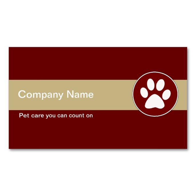 Pet care business cards make your own business card with this great pet care business cards make your own business card with this great design all reheart Choice Image