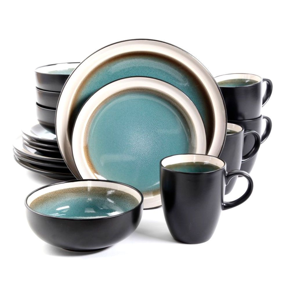Gibson Elite Dinnerware Set Central Ridge Dw SetBlue By Gibson Elite  sc 1 st  Pinterest & Gibson Elite Central Ridge 16 Piece Dinnerware Set Blue ...