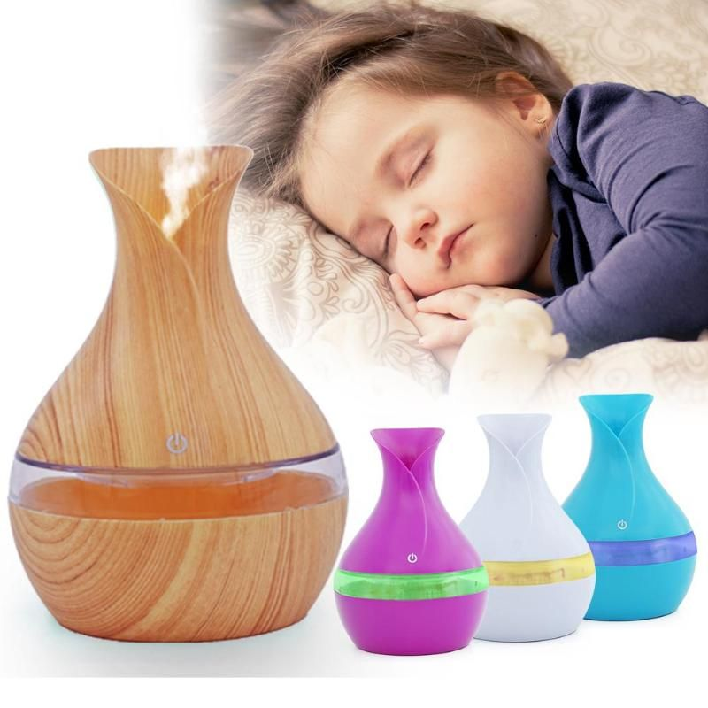 Vase Pattern Air Purifier With Wood Grain Portable