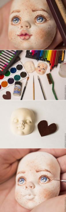 Мастер-класс: роспись кукольного лица - Ярмарка Мастеров - ручная работа, handmade