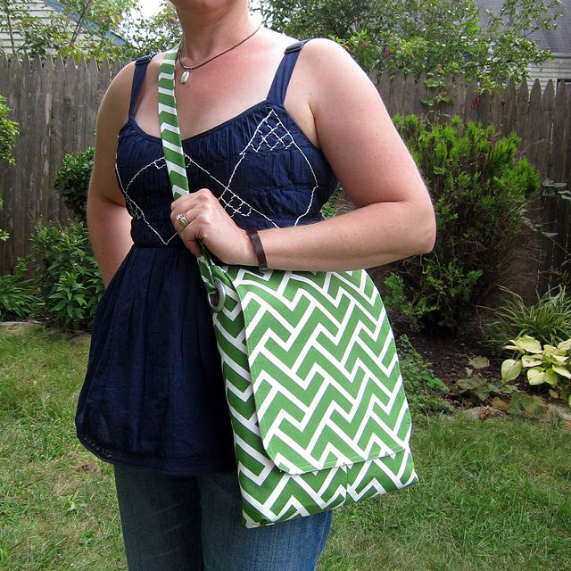 The Alice Tote in GeoCentric by Michelle Engel Bencsko   Cloud9 Fabrics, via Flickr