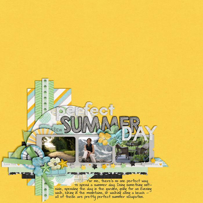 Perfect Summer Day Growth Spurt by Misty Cato digital scrapbooking layout, summer, outdoors, hike, garden, walk