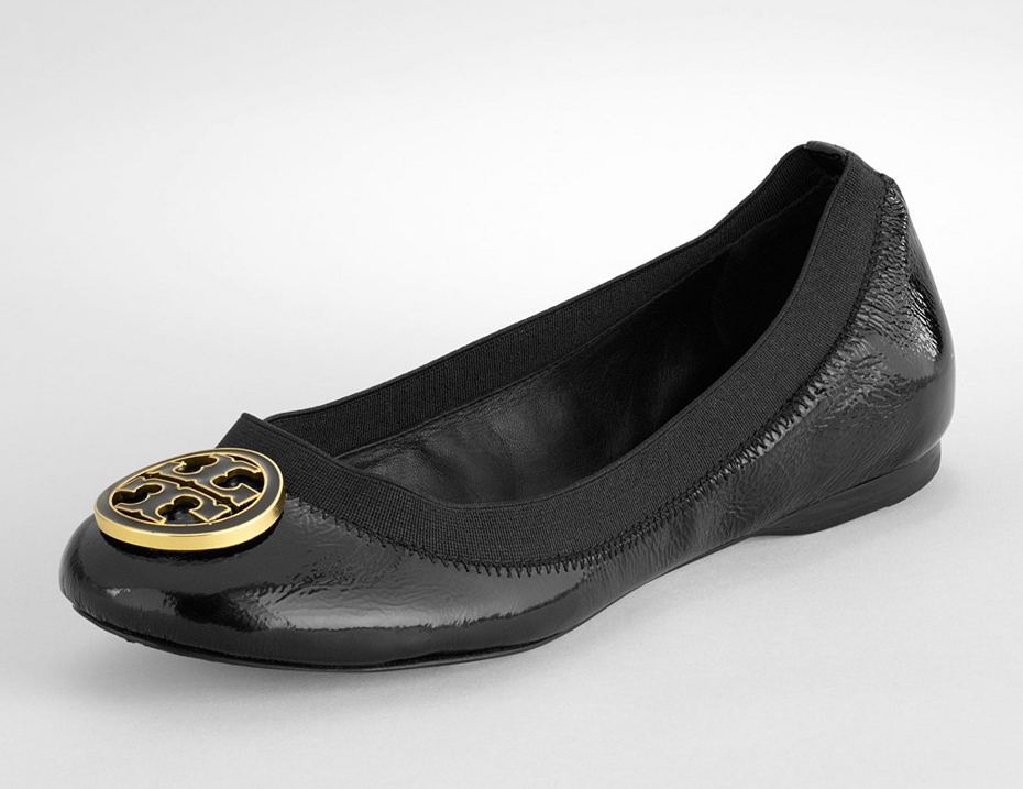 c6c80bc33f20 Tory Burch Caroline flat. Have in nude- want in black. Much better than  revas.