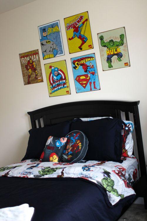 Boys Superhero Bedroom: Captian America Super Man Hulk Batman Iron Man Room