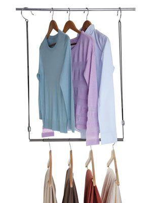 SMART...have This And It Works Great To Expand Your Closet Space.