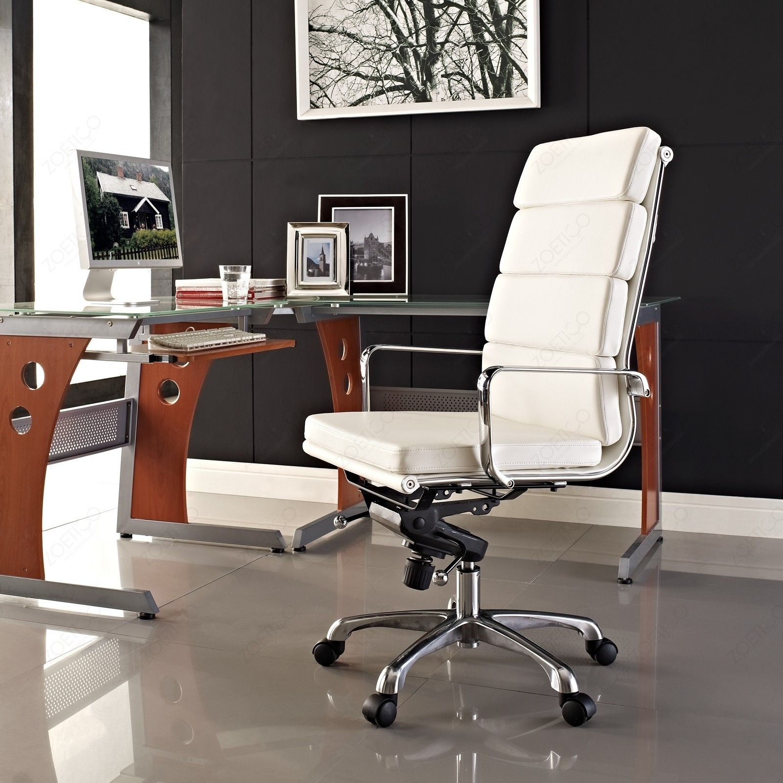 Office Workspace. Classy Office Ideas With Stylish White
