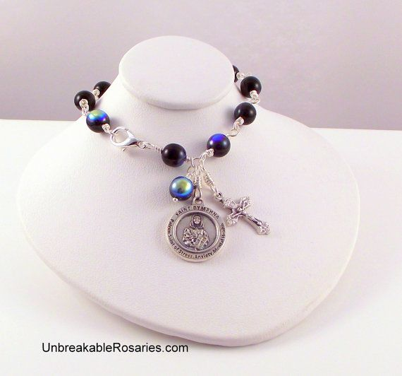 St Dymphna Rosary Bracelet Patron of Mental Health, Stress and Anxiety www.UnbreakableRosaries.com