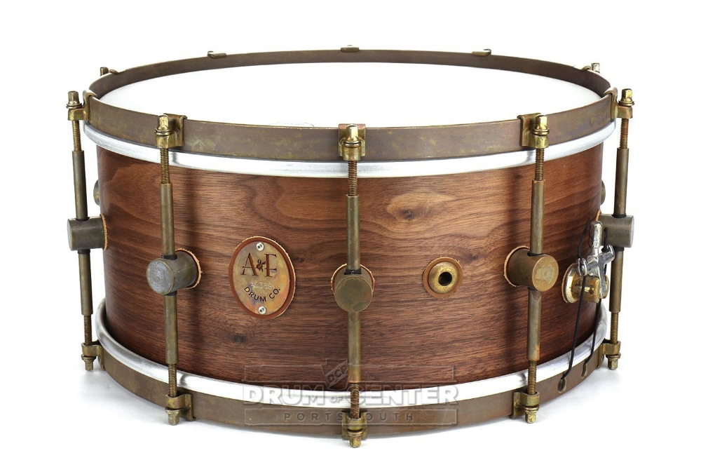 A F Steam Bent Walnut Snare Drum 14x6 5 Snare Drum Drums Snare