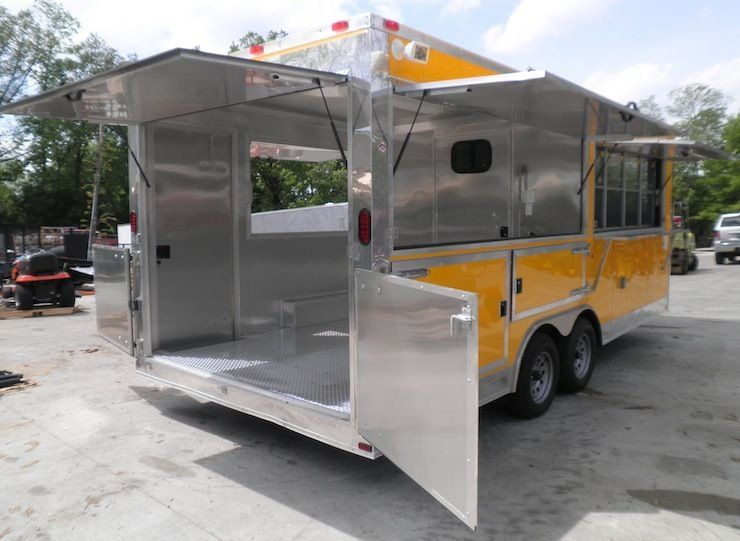 Concession trailer 85x20 yellow vending food event