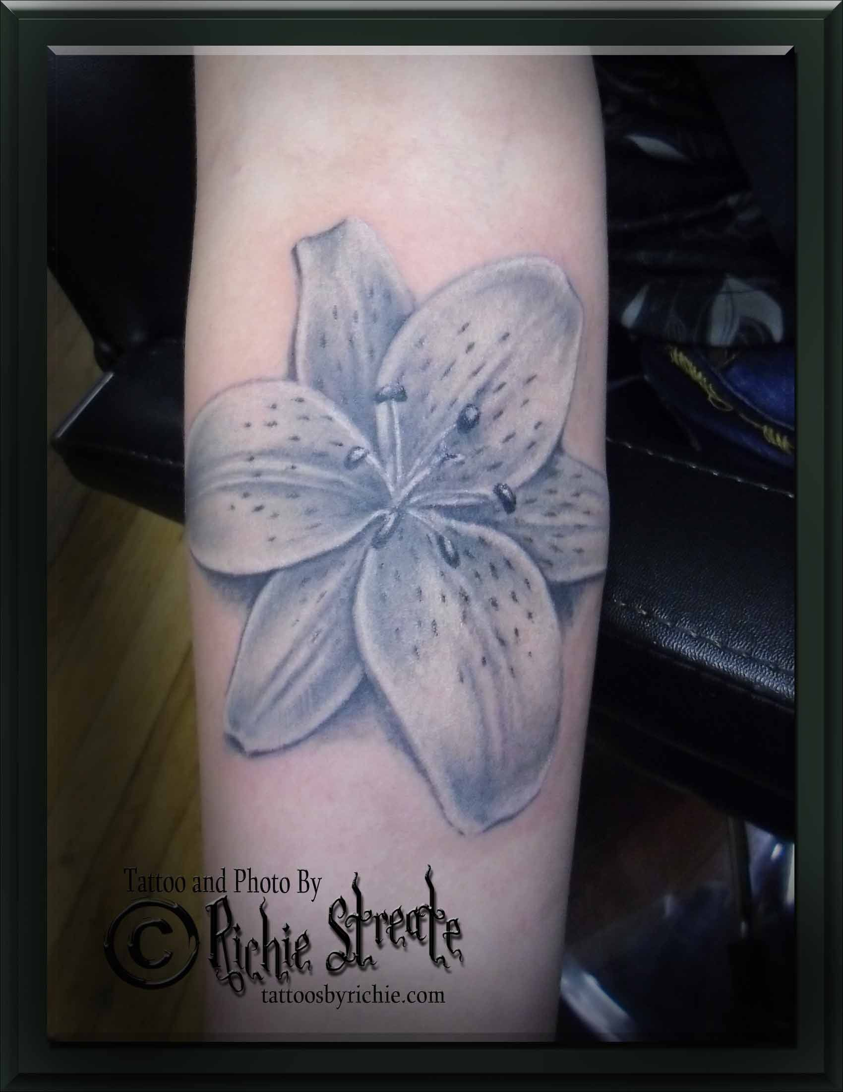 Lily Flower Tattoo Tattoos By Richie Streate Pinterest Lily