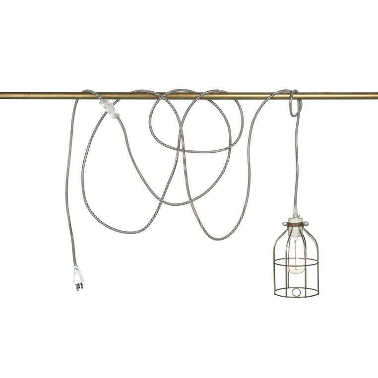 Porcelain pendant cord set huckberry tweed fabricpendant lightingloft