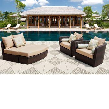 Portofino Comfort 7 Piece Deep Seating Set In Espresso L From Costco.com. |  Outdoor Wicker Furniture Ideas | Pinterest | Costco, Espresso And Outdoor  Wicker ...