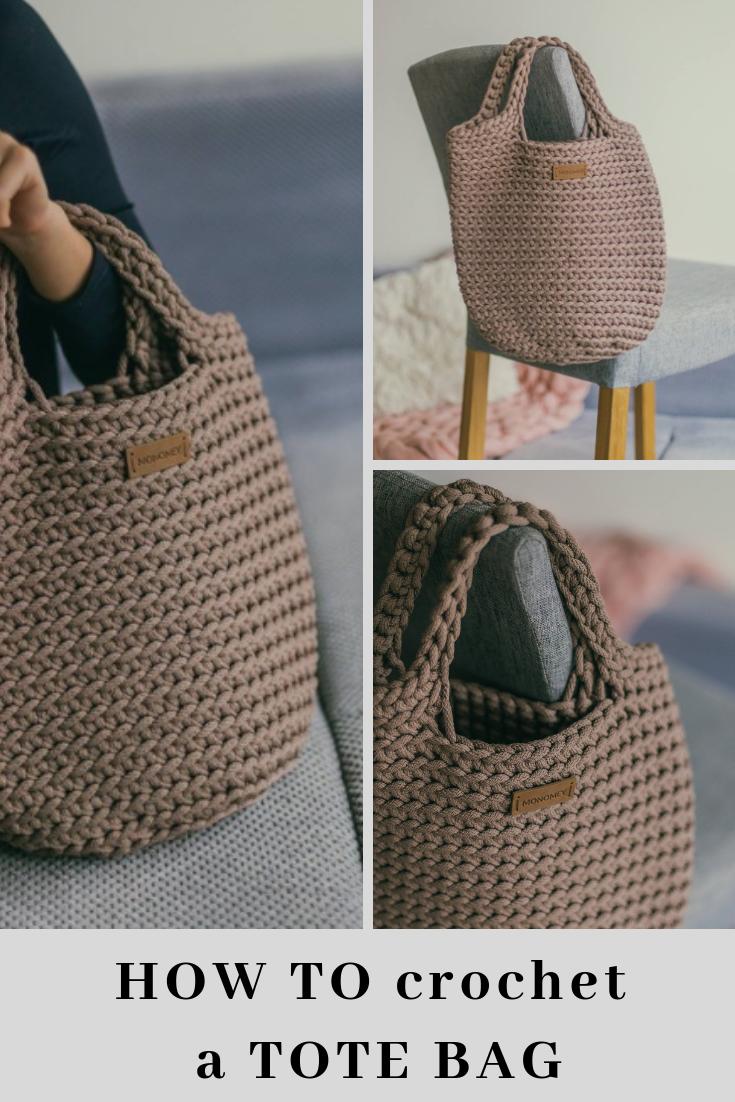 Crochet Tote Pattern Crochet Handbag Pattern Handbag Pattern Pdf
