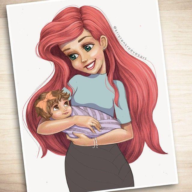 Princesse ariel et son b b la petite sir ne disney princesse disney pinterest - Petite princesse disney ...