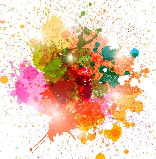 Grunge Colorful Splashing Vector Illustration Color Vector