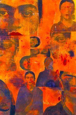 Frieda - Mono Print with Gouache - Laurie Raskin