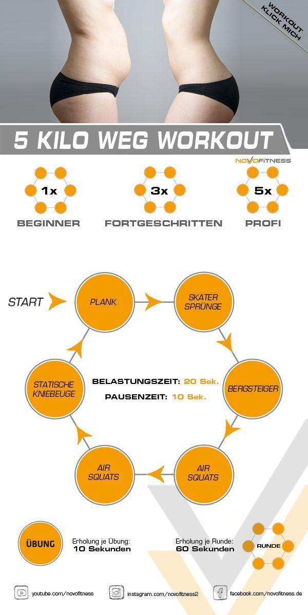 Klicke aufs Bild und mache direkt ein Workout in deinem Wohnzimmer. #Fitness Training workout #Kilo...