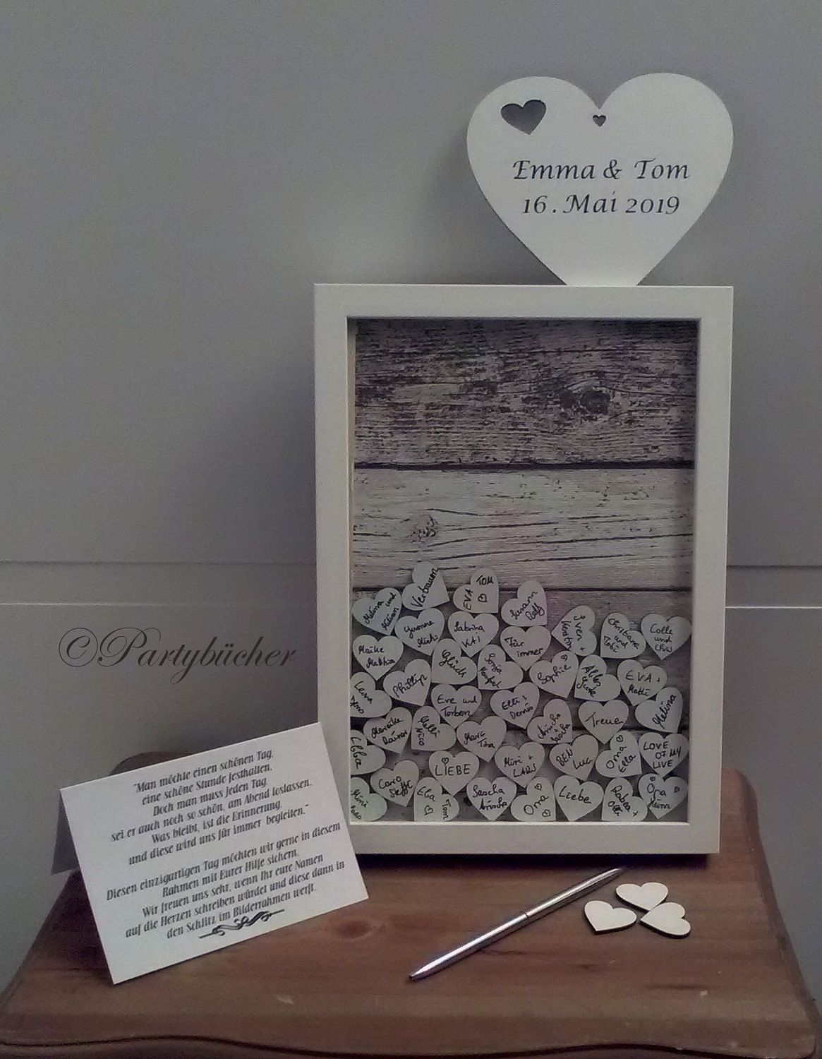 Picture frame guestbook, dropbox, wedding guest book, leave a ...