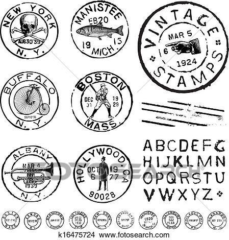 8cf927fa3c vector, clipart, vendimia, estampilla, y, etiqueta, conjunto Ver Clip Art  Gráficos en Grande