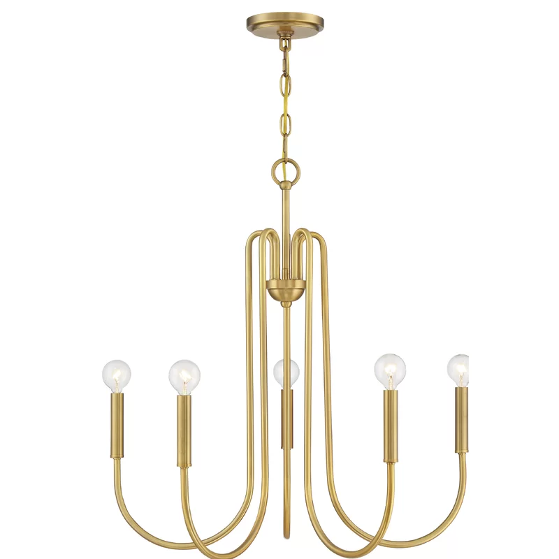George Oliver Dalessandro 5 Light Candle Style Classic Traditional Chandelier Wayfair Candle Style Chandelier Candle Styling Traditional Chandelier