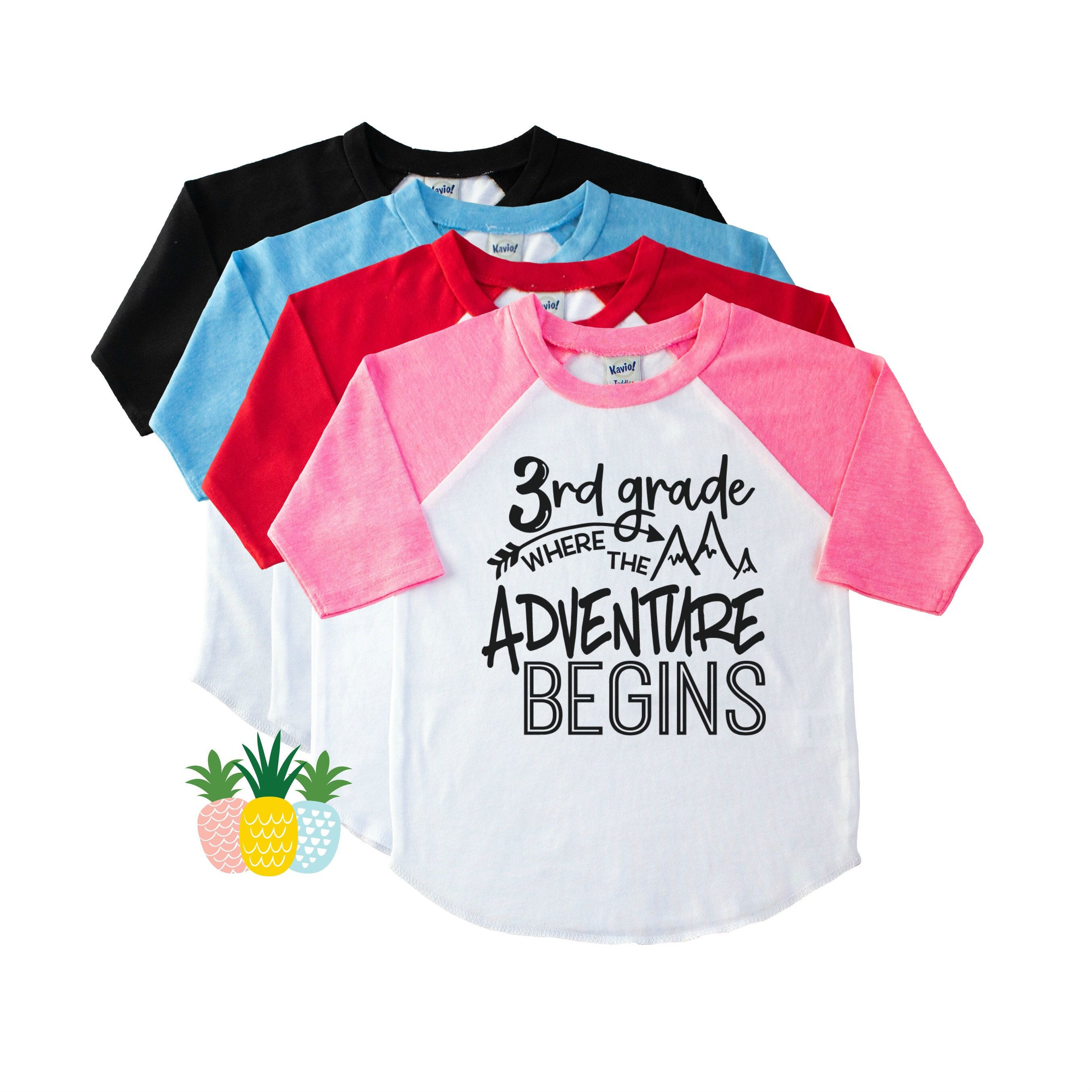 3rd Grade Adventure Back To School Shirt