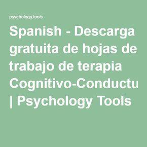 Spanish - Descarga gratuita de hojas de trabajo de terapia Cognitivo ...