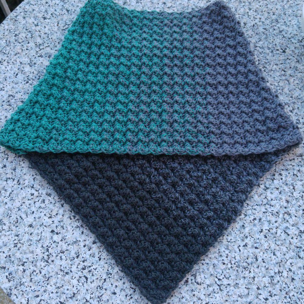 "Col châle ""Ocean Night"" + Patron crochet gratuit   – Häkeln / crochet"