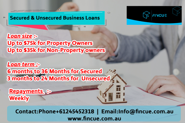 Https Fincue Com Au Loan Size Up To 75k For Property Owners Up To 35k For Non Property Owners Loan Term 6 Month Business Loans Small Business Loans Loan