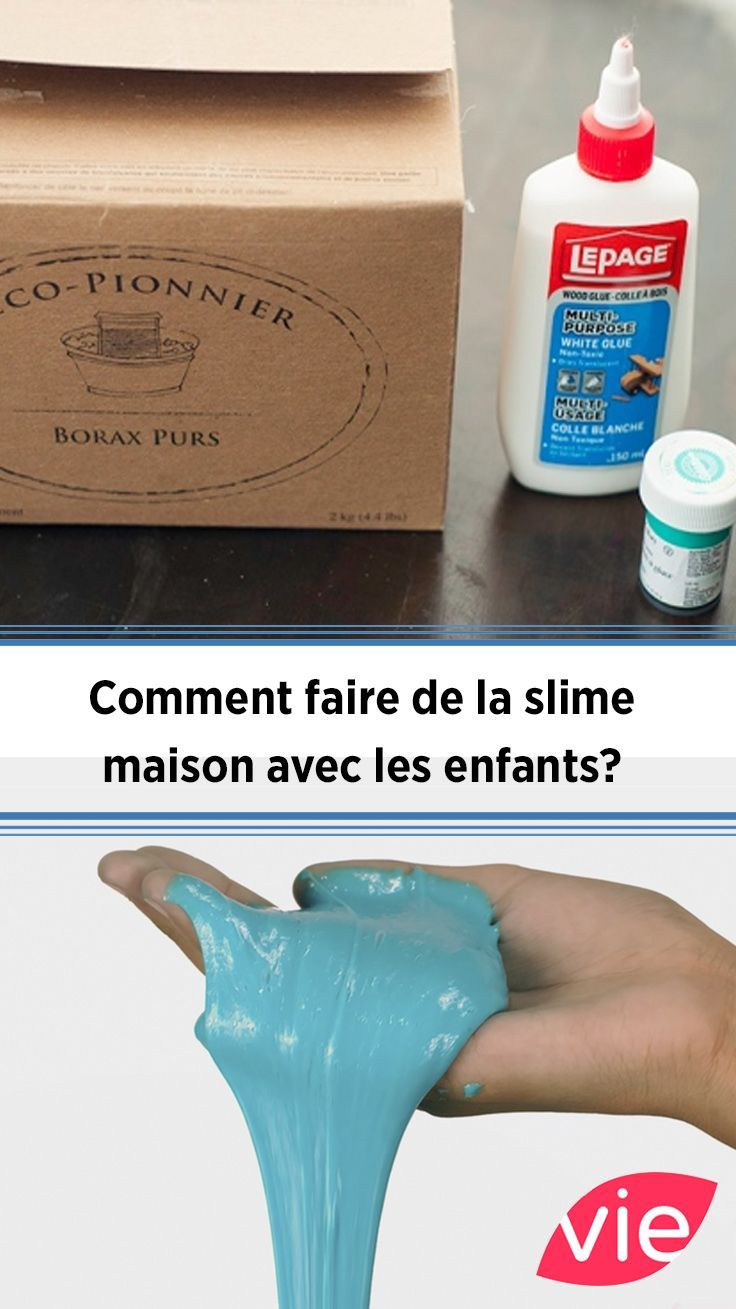 comment faire de la slime maison avec les enfants diy diy. Black Bedroom Furniture Sets. Home Design Ideas