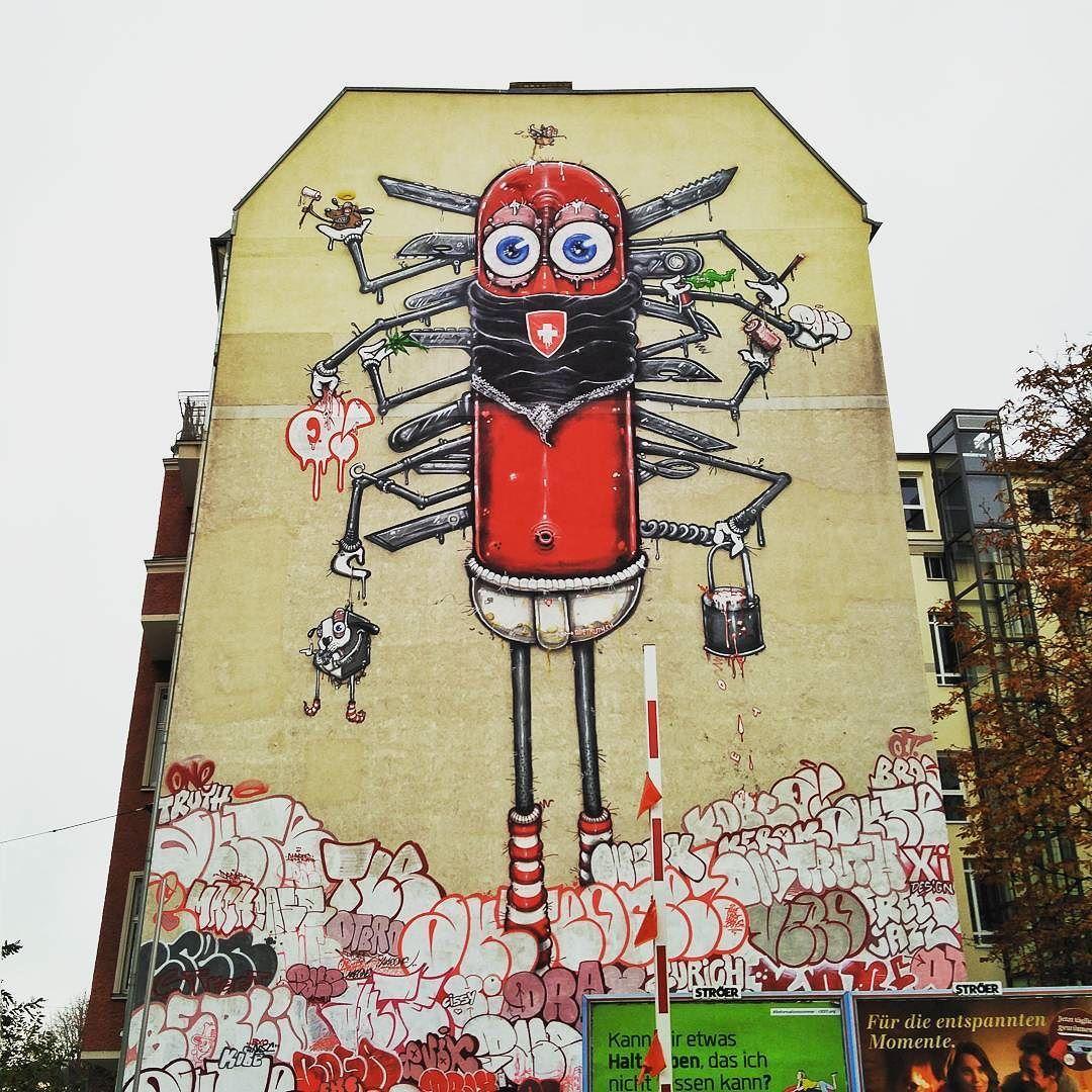 Super huge Swiss Army knife #berlin #graffiti #swissarmyknife | My ...