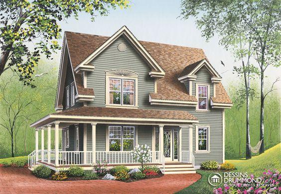 Champetre W4590 Maison Laprise Maisons Pre Usinees Small Farmhouse Plans Country Style House Plans Farmhouse Style House