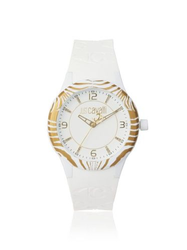 f3a8a45336d 45% OFF Just Cavalli Women  s R7251194845 Fantasy White Rubber Watch ...