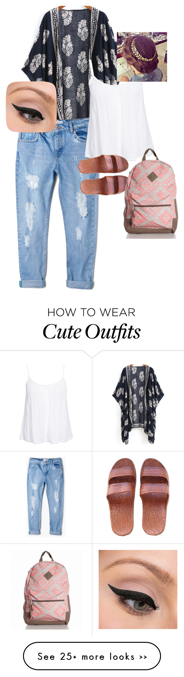 """first day of school outfit"" by bethany10-1 on Polyvore featuring MANGO, New Look and LORAC"