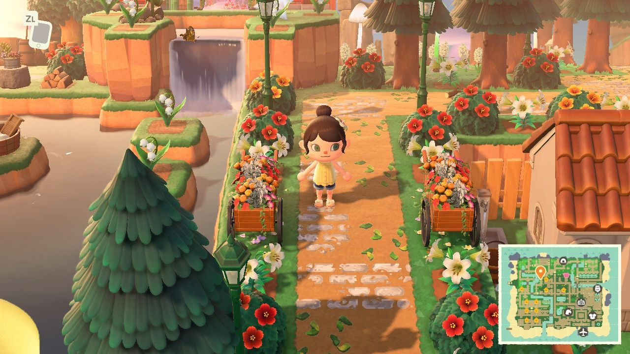 I Love How This Pathway Is Decorated Love The Shrubs In 2020 Animal Crossing Christmas Animals Animals