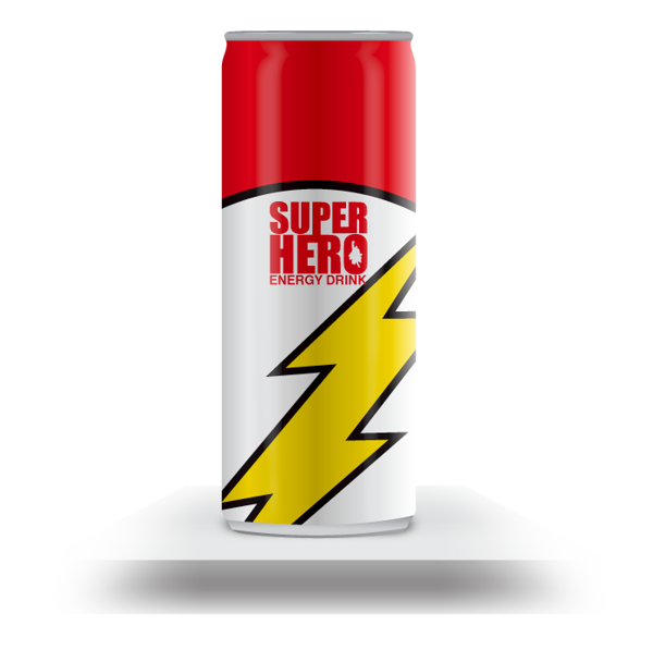 Superhero Energy Drink The Flash By Mike Karolos Via Behance Drinks Packaging Design Energy Drinks Packaging Drinks