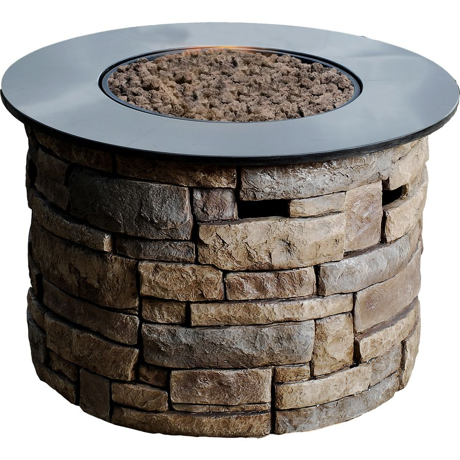 Exceptionnel Allen + Roth Canyon Ridge W Stone Design/Black Marble Top Composite Propane  Gas Fire Table At Loweu0027s. Enjoy Your Outdoor Living Space During The Cooler  ...