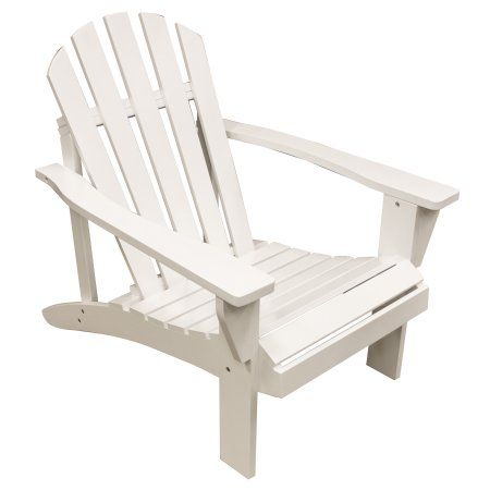 AmeriHome Solid Wood Adirondack Chair With Painted Finish   White