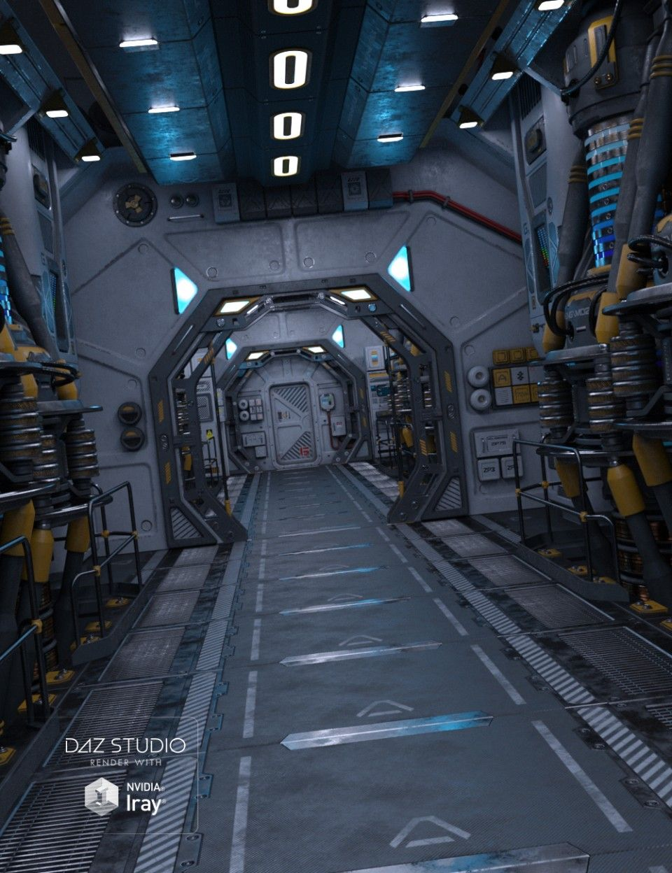 The Engine Room Design: Sci Fi Environment, Sci Fi Concept