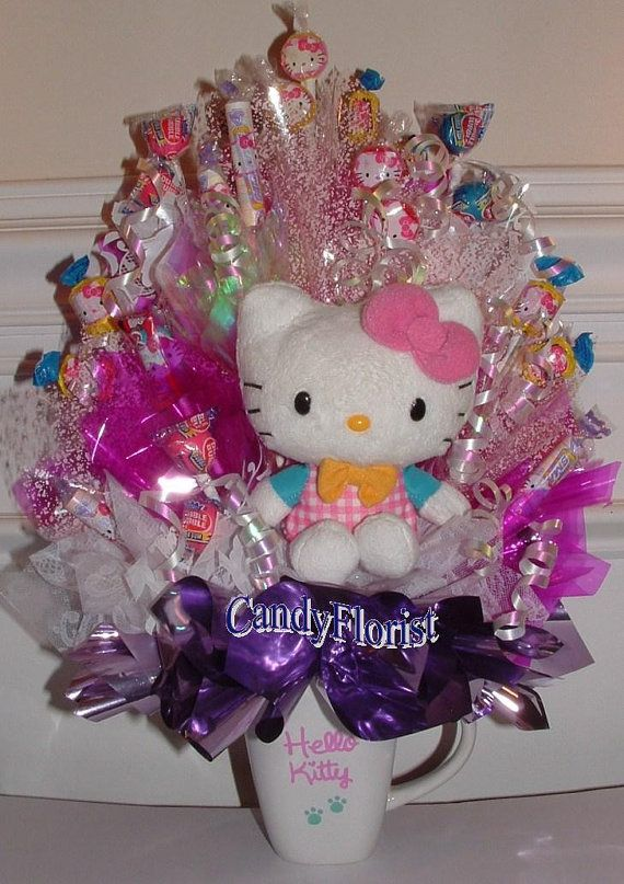 Hello kitty candy bouquet centerpiece includes hk fruit snacks hello kitty candy bouquet centerpiece includes hk fruit snacks hk edible party favors negle Image collections