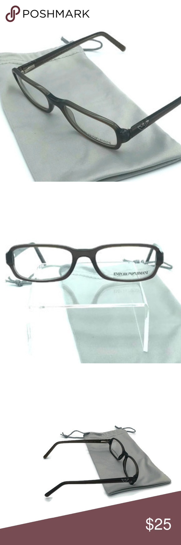 e3750e15e48b Emporio Armani eyeglass frames. All they need is YOUR lens. Comes with a  grey microfiber carrying case. Emporio Armani Accessories Glasses