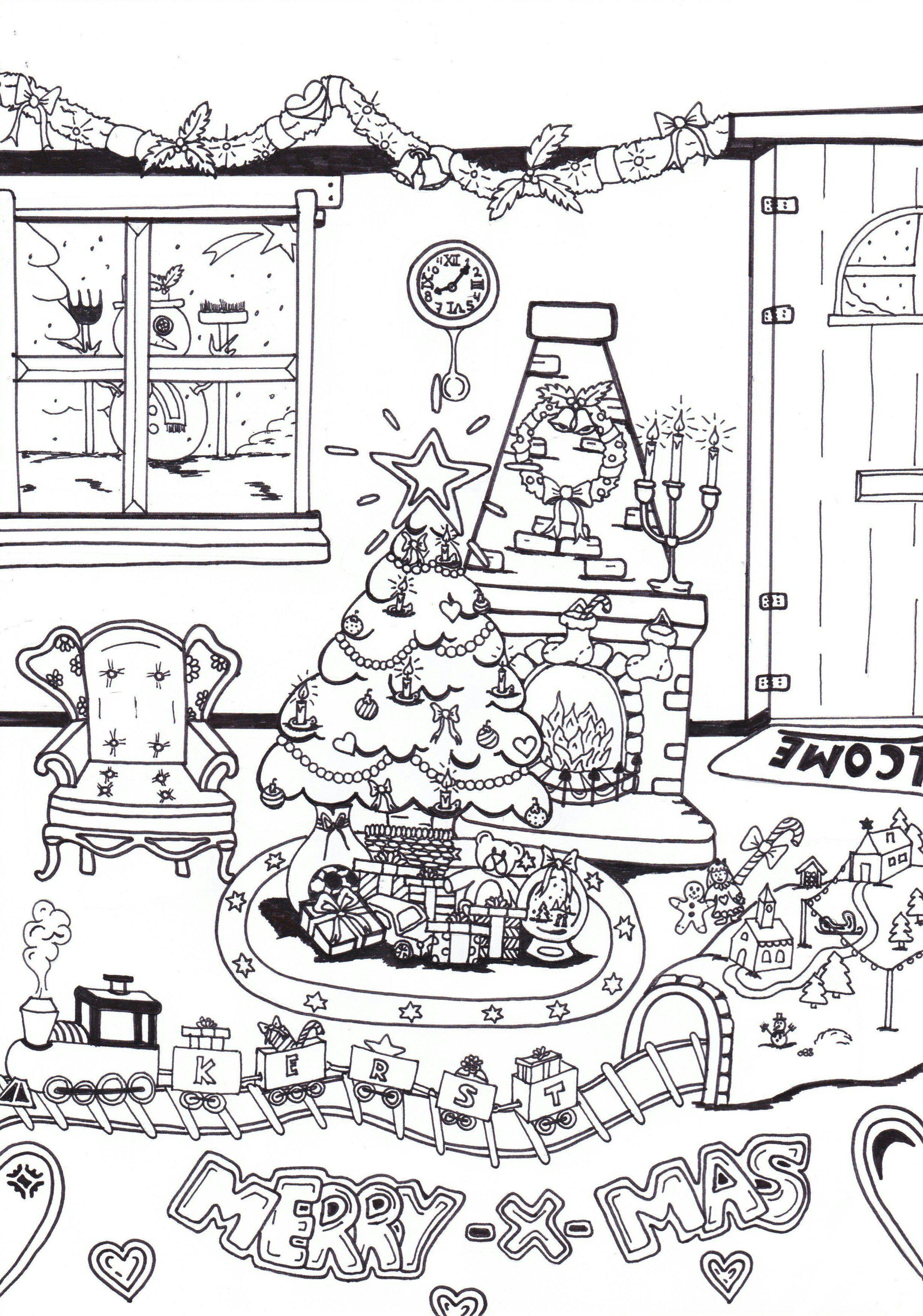 Kleurplaten Kerst Pdf.Kerst Kleurplaat Kerst Kleurplaat Waar Vind Je Een Leuke