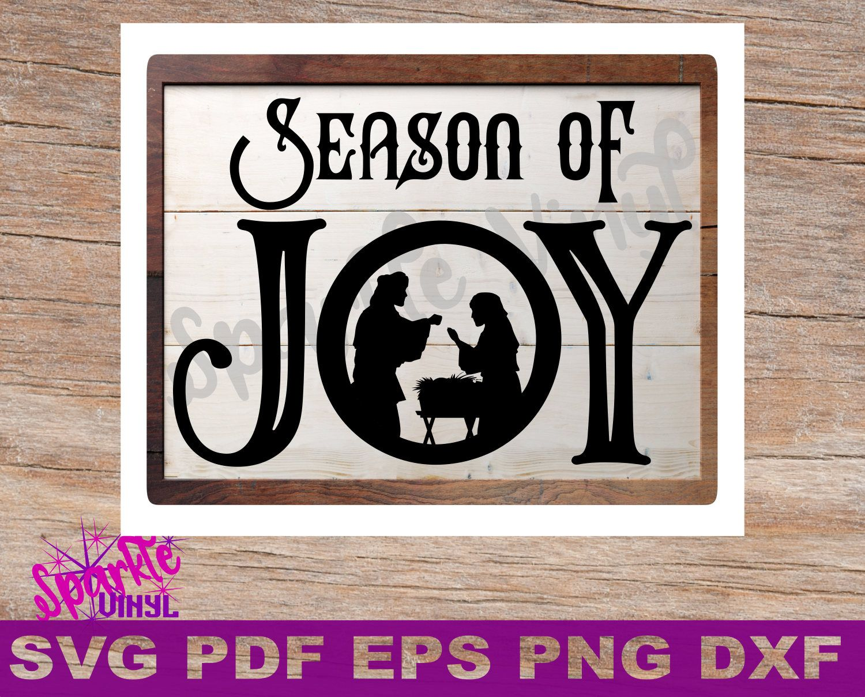 Svg Christmas Joy Nativity sign stencil Joanna Gaines