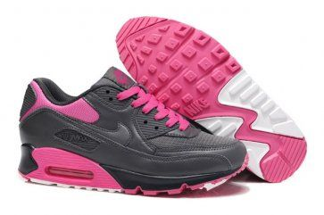 97955a3635f Nike Air Max 90 Womens Dark Grey Pink Foil Shoes