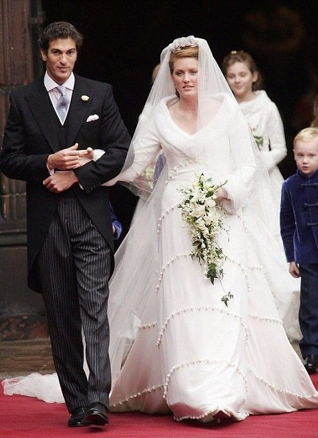 Lady Tamara Grosvenor in a Bruce Oldfield gown