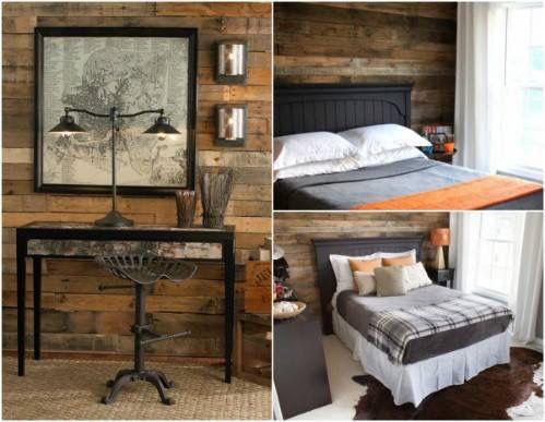 Dormitorio y entrada Madera Pinterest - decoracion con madera en paredes