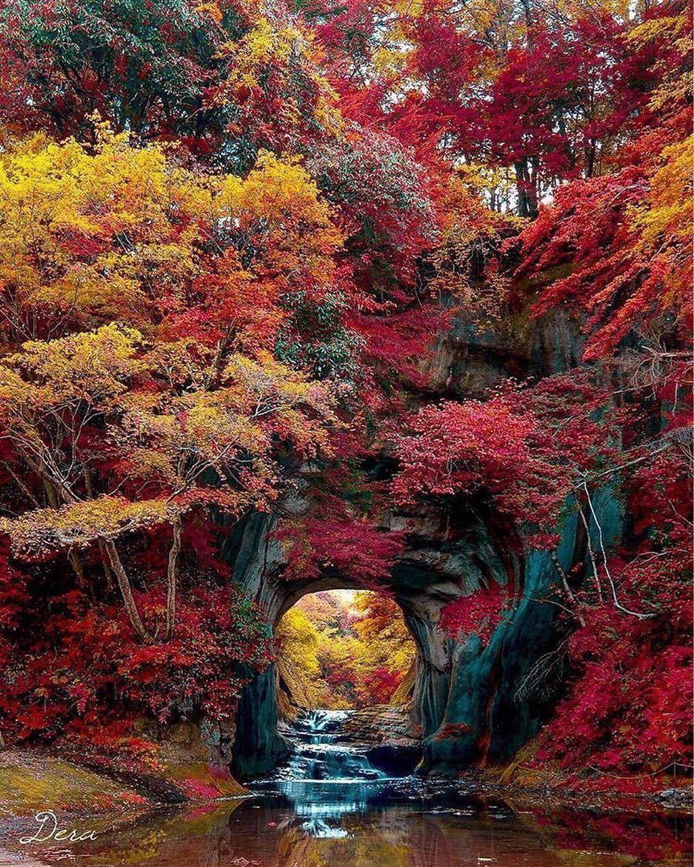 Peaceful Autumnal Spot Nomizo Falls Chiba Japan Photo By